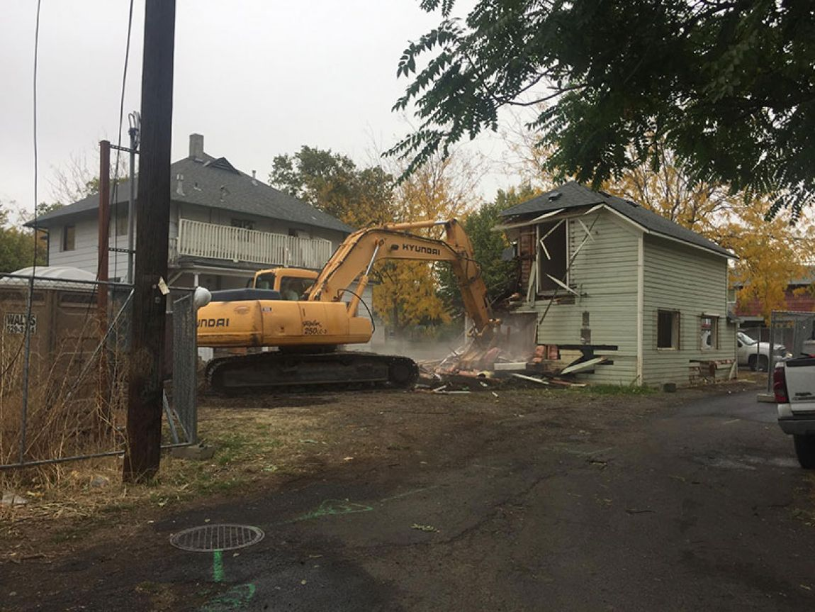Grace House being demolished